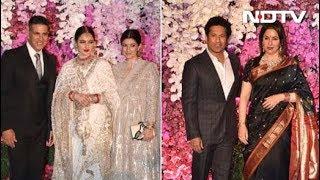 From Rekha To Sachin, All The Stars At Akash Ambani-Shloka Mehta's Party
