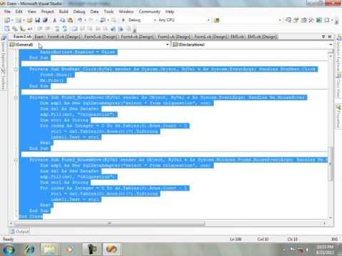 Exam Management System in VB.net