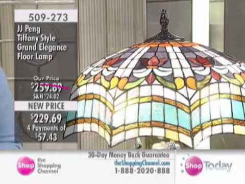 JJ Peng Tiffany Style Grand Elegance Floor Lamp At The Shopping Channel 509273