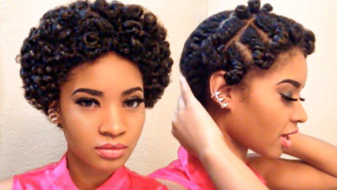 Flat Twistout On Short Natural Hair No Sound Youtube