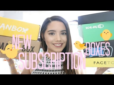 NEW SUBSCRIPTION BOXES | 2017 | BOXYCHARM, BULLYMAKER, FACETORY, ESIAN BOX, AND MORE