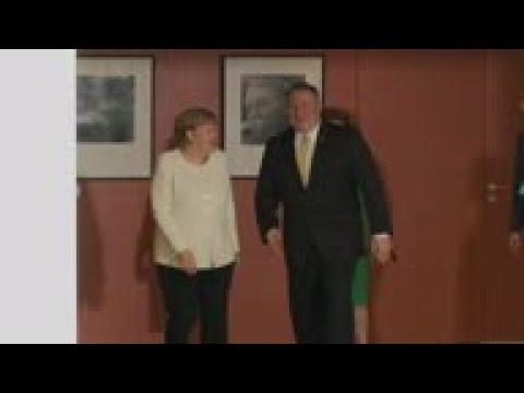 Pompeo discuss Iran with Merkel in Berlin