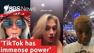 How young people are using TikTok to influence US politics and the Presidential election I SBS News