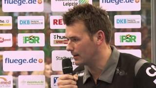 PK mit DHfK-Trainer Christian Prokop zum Spiel SC DHfK Leipzig vs. ThSV Eisenach (29:28)