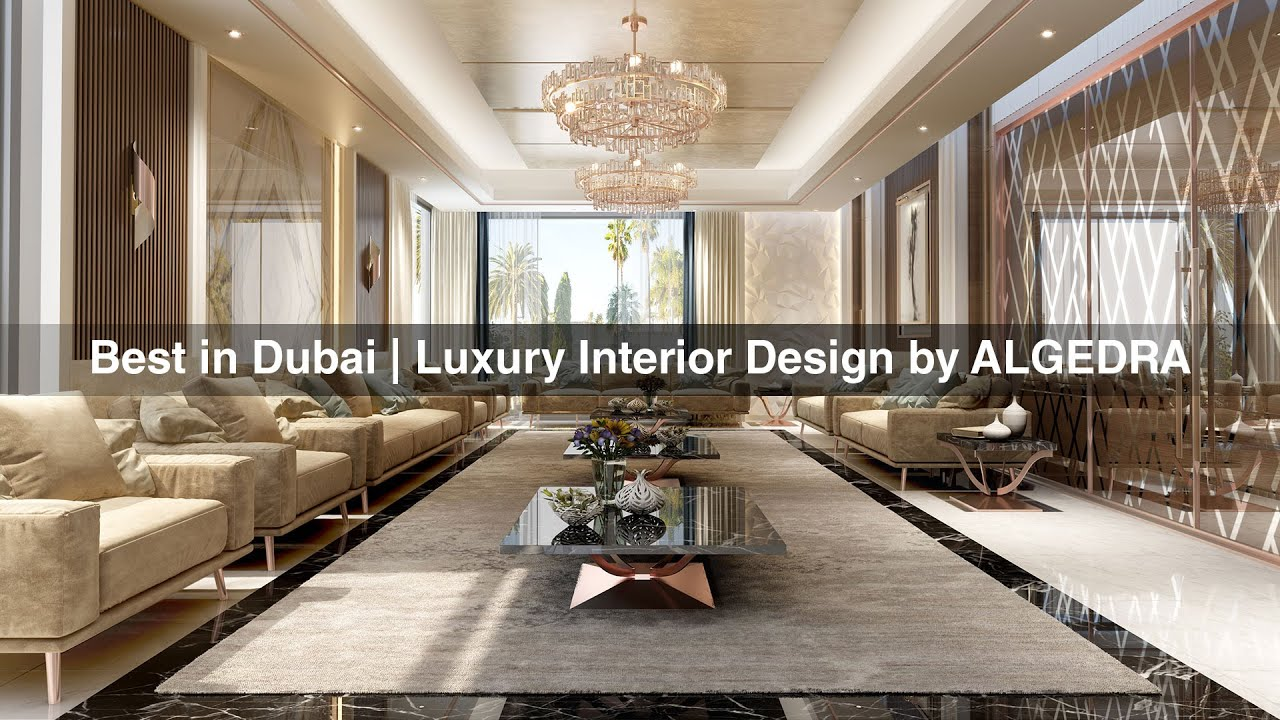 Best luxury interior design in dubai by algedra youtube for One agency interior design dubai