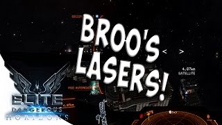 BROO'S LASERS - Elite Dangerous Horizons Gameplay