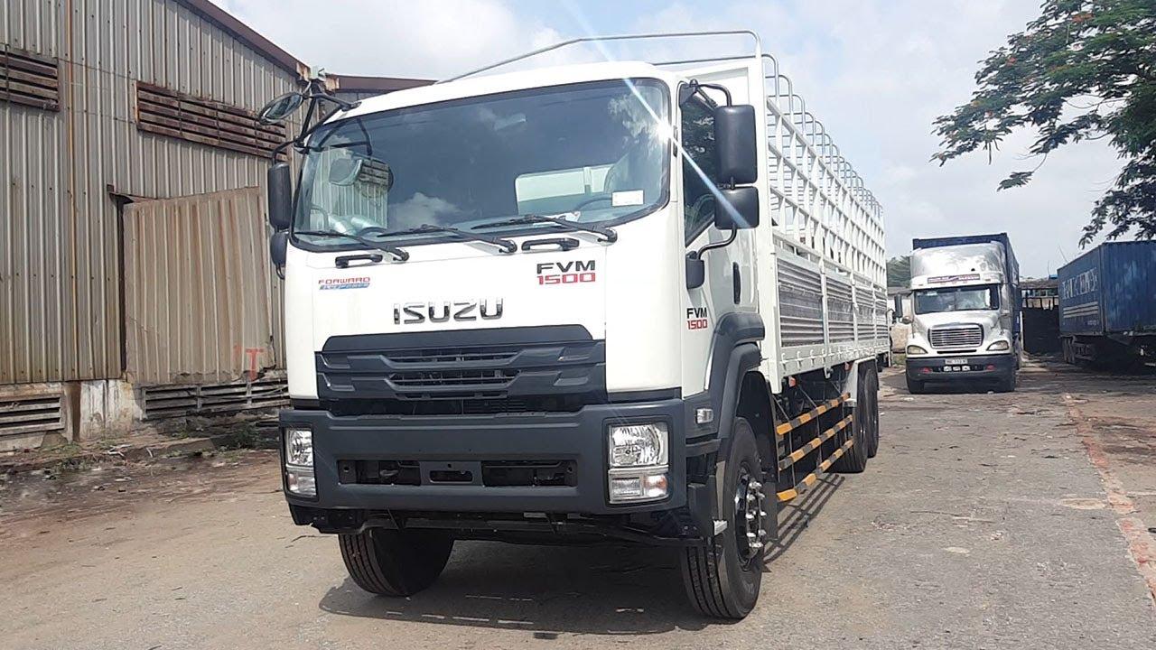 xe tải isuzu FVM34WE4 15 tấn thùng mui bạt dài 9m6   xe tải isuzu 3 chân 2019   xe tải Isuzu trả góp