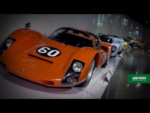 Classic Porsche models on show at exhibition in Los Angeles