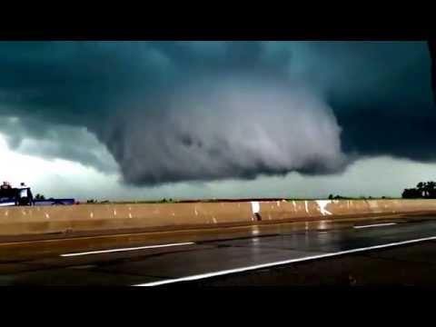 Amber, OK Tornado & INSANE Wall Cloud 5/6/15