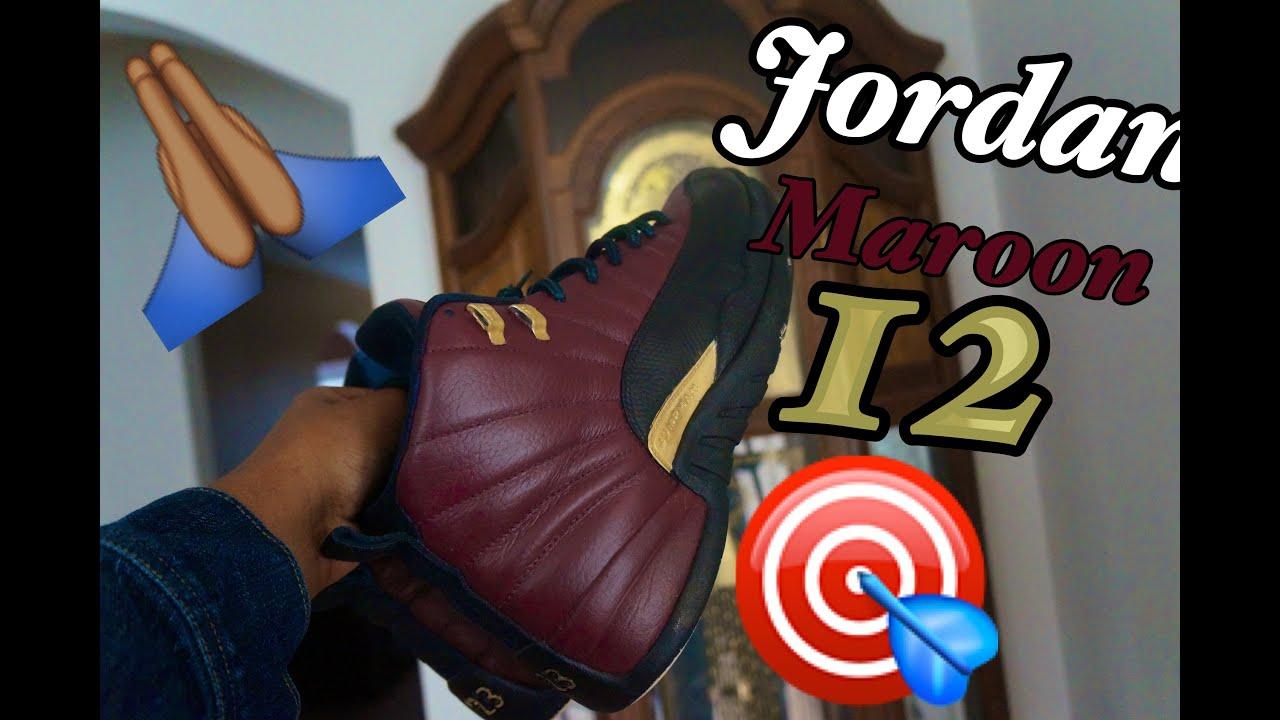Maroon Jordan 12 (CUSTOM) - YouTube f9b008c33