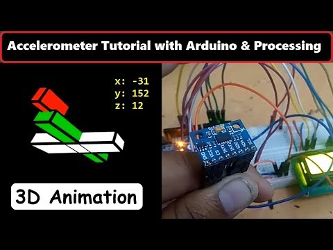 Accelerometer Arduino Tutorial 3D Processing