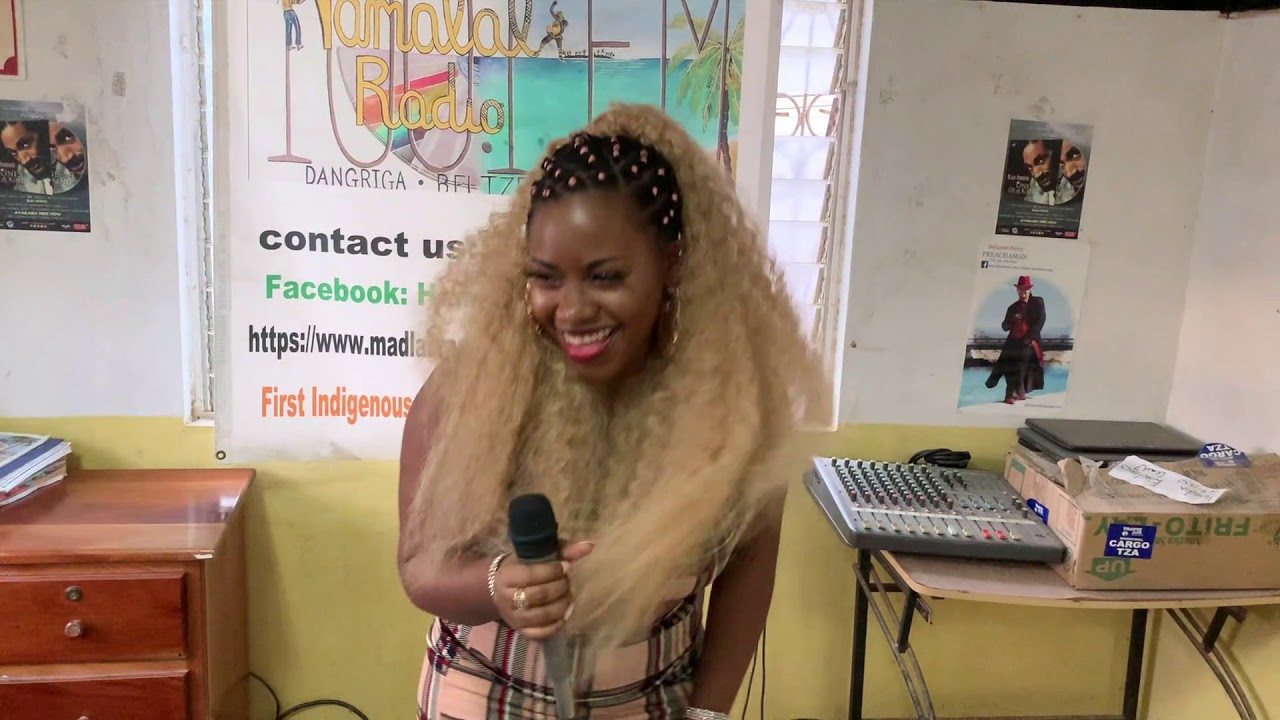Belizean Artist: Miss Honey Dee  Hamalali Radio Station Interview (Dangriga)  100.1 FM