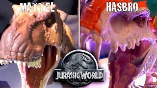 Jurassic World Comparison - Mattel vs Hasbro