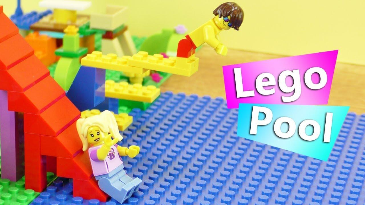 DIY Traumhaus aus LEGO für Lisa & Tom   POOL mit RIESEN RUTSCHE ...