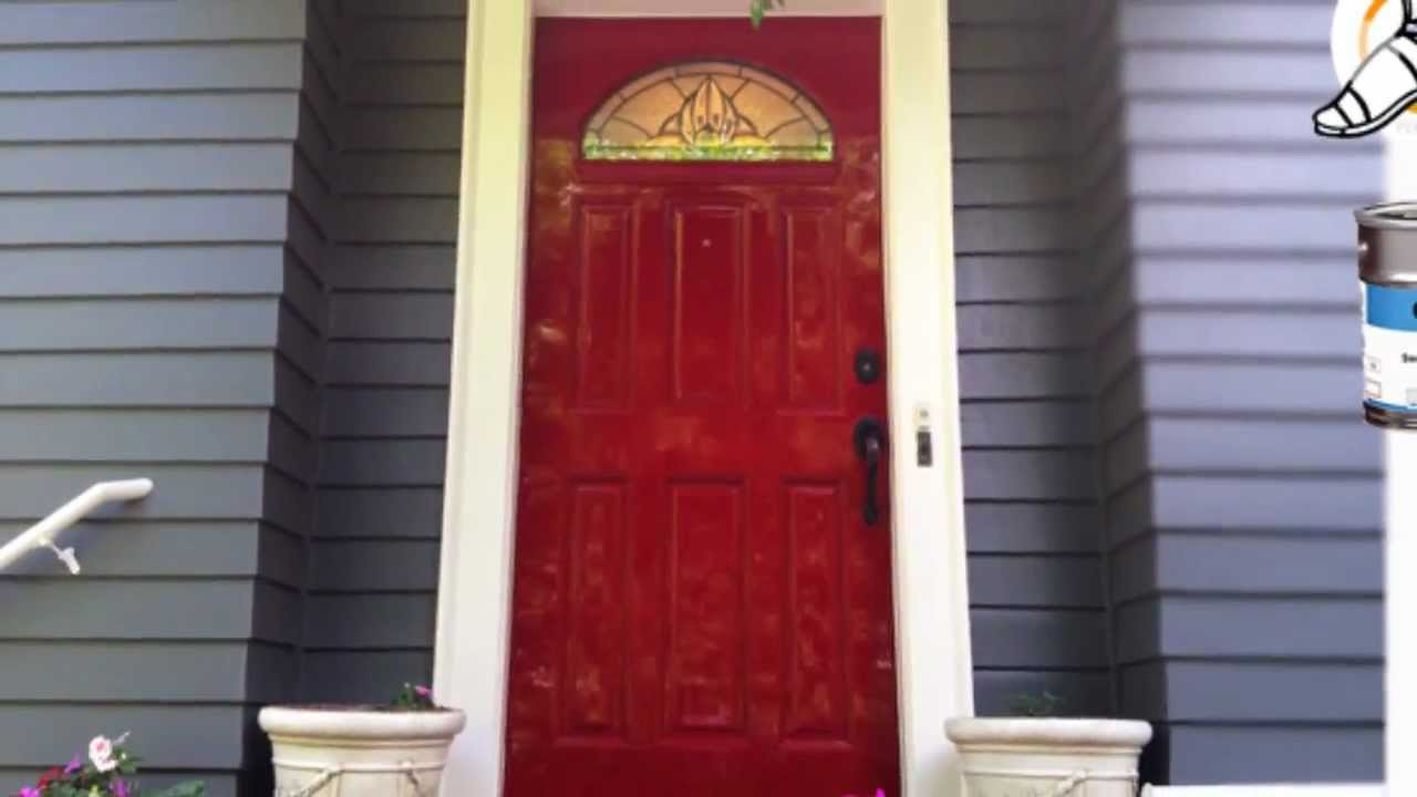 High Gloss Red Door Paint