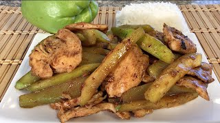 Stir Fry Chicken Chayote Squash-asian-mexican Food Recipes