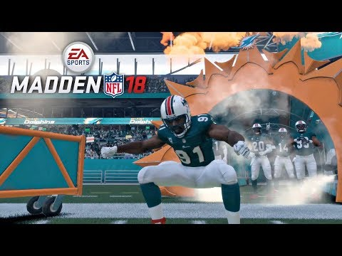 Madden 18 Patriots vs Dolphins Gameplay (Hard Rock Stadium) Full Game