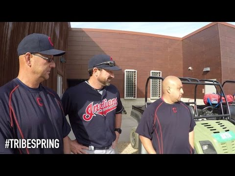 Slider messes around with Terry Francona's scooter