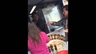 Street taco stand in Nuevo Laredo