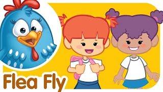 School Song: Flea Fly   Lottie Dottie Chicken   Nursery Rhymes For Kids