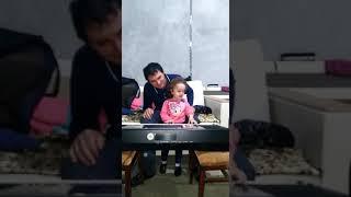 Хасанби Таучев и внучка Карина