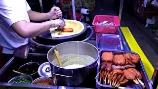 Китайская Шаурма на углях! Уличная еда под мостом! Жизнь в Китае! Chinese Shawarma street food