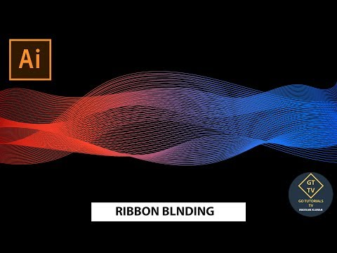 Illustrator || very easy || How to make Ribbon Blending || In just 7 minutes