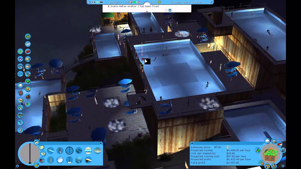 Roller Coaster Tycoon 3 - Paradise Island - Walkthrough Gameplay PC