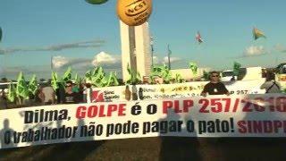 TV Sinafite-DF: Protesto contra o PLC 257/2016