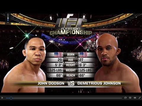 UFC 191: Johnson vs Dodson 2 Full Fight-  EA UFC- Xbox One