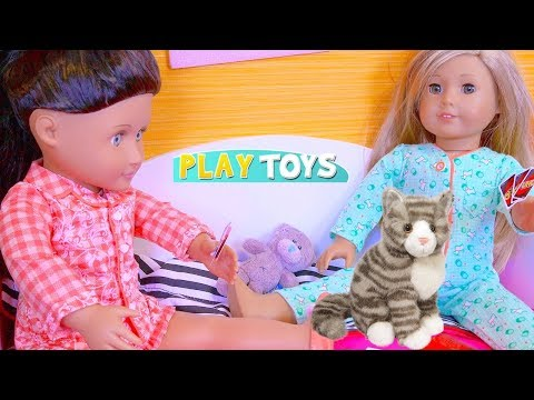 Baby Doll Sleepover Slumber Party! Play OG AG Dolls Dress up in Doll House Toys!