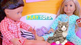 Baby Doll Sleepover Slumber Party! Play OG AG Dolls Dress up in Doll House Toys!