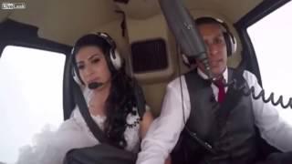 Salen a la luz las desgarradoras escenas del accidente de la novia que viajaba en el helicóptero