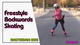 Backwards skating with transitions