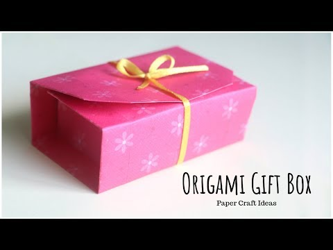Origami Gift Box | How to Make Paper Gift Box | Easy Origami Paper Box