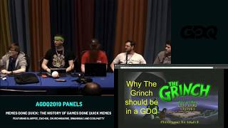 AGDQ 2019 Panels: Memes Done Quick: The History of Games Done Quick Memes
