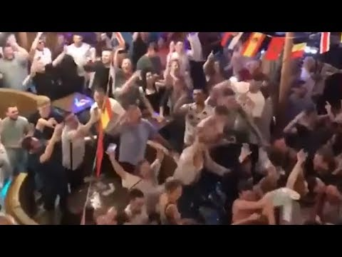 England Fans Celebrate World Cup Win Against Tunisia - Russia 2018