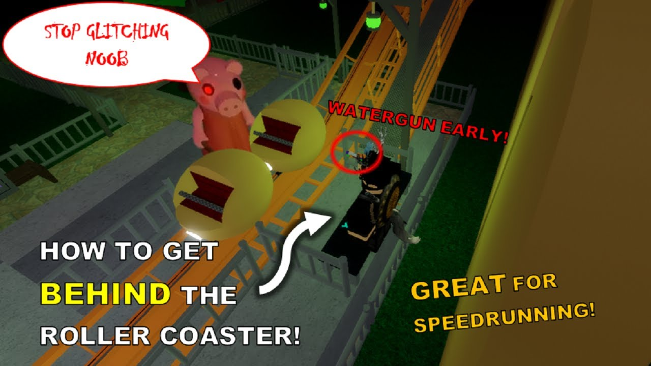 How To Hack In Roblox Piggy Carnival Roller Coaster Skip How To Get Behind The Roller Coaster In Chapter 8 Carnival Piggy Glitches Youtube
