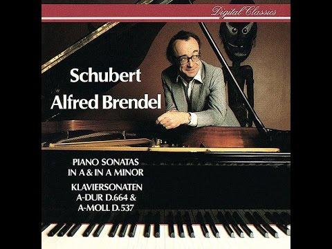 Franz Schubert, Piano Sonata A-major D. 664, Alfred Brendel