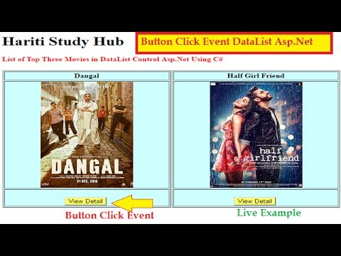 How To Perform Button Click Event In DataList Control Asp.Net C# | Hindi | Online Learning Classes