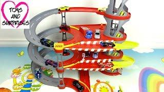 Мультфильм  про машинки Игрушка Гараж Hot Wheels Хот Вилс Парковка Parking Garage