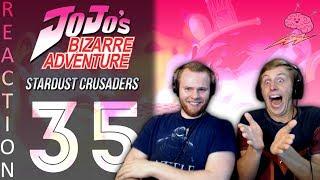 SOS Bros React - JoJo's Bizarre Adventure Part 3 Episode 35 - D'Arby vs Jotaro!!