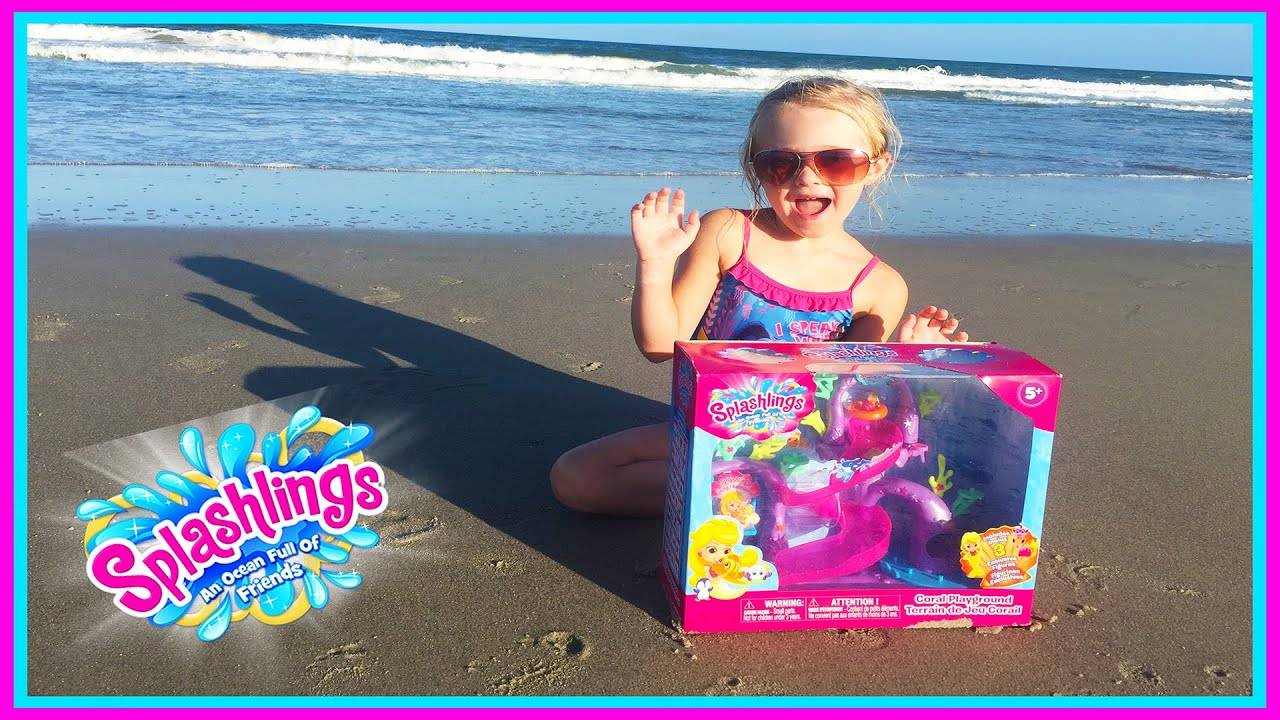 Splashlings Coral Playground Mermaid Toys at the Beach W Blind
