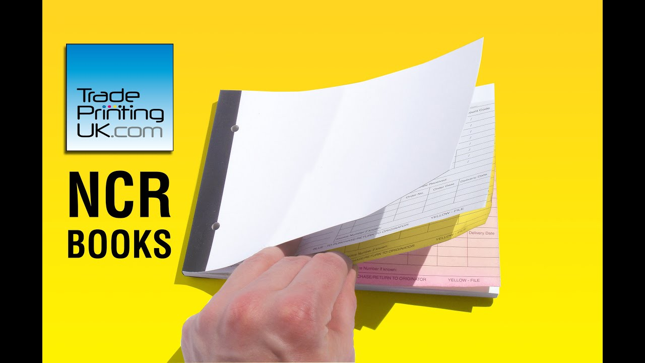 NCR Invoice Books Carbonless NCR BOOKS From Trade Printing UK - Invoice pads