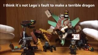 LEGO Ninjago Cole's Dragons Comparison: Rocky vs Earth Elemental Dragon & Review