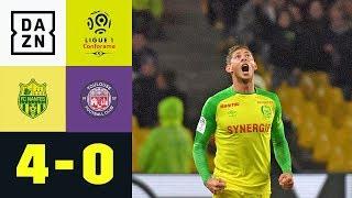 Hattrick von Kanarienvogel Emiliano Sala: FC Nantes - FC Toulouse 4:0 | Ligue 1 | DAZN Highlights