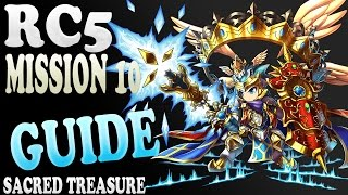 Brave Frontier | Episode #467: RC5 | Mission 10 | Sacred Treasure! (GUIDE)