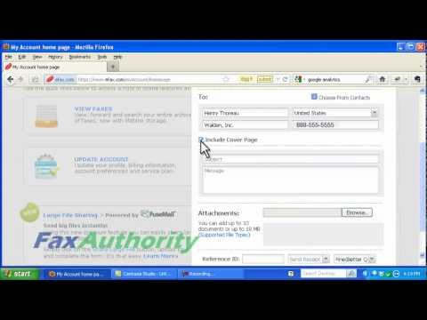 eFax(R) Review - Sending a Fax Through the Web Interface