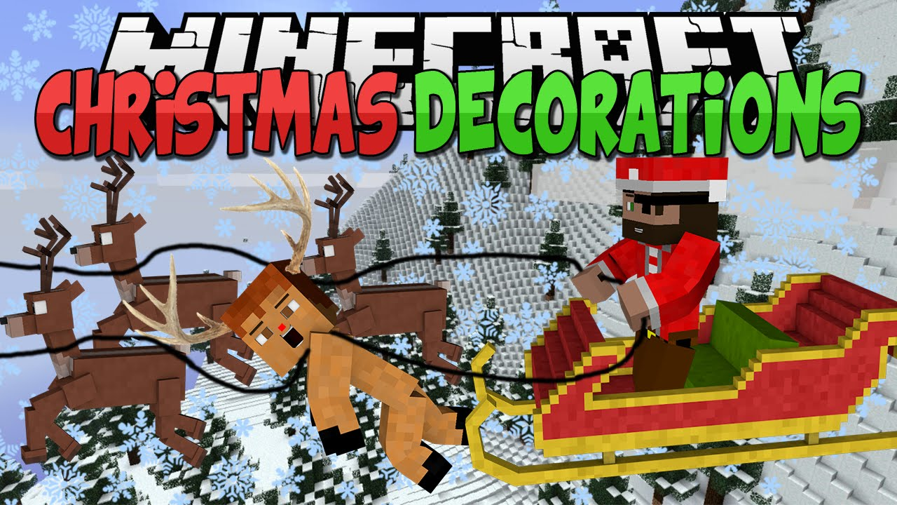 Minecraft Mods || CHRISTMAS DECORATIONS!!! || Lights and ...