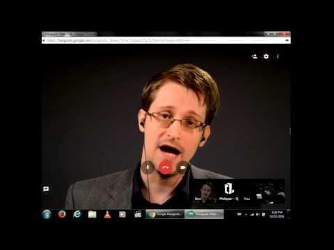Edward Snowden  public talk (via videoconference)